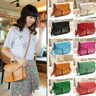 Women Leather Satchel Shoulder Messenger Ladies Bag Handbag Tote Purse Crossbody