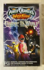 Saban-039-s-Power-Rangers-Wild-Force-VHS-2002-Curse-of-the-Wolf-Buena-Vista-Video