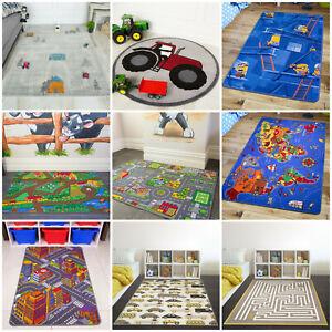 Kids Rugs Childrens Fun Christmas Gifts Boys Girls Bedroom Mats Baby Playmats UK