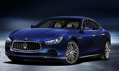 POSTER 24 X 36 INCH Looks Awesome! MASERATI GHIBLI blue