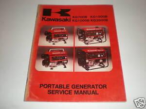 genuine kawasaki service manual generator kg 700 1500 b ebay rh ebay com Sportsman Generator 1500 Watts Sportsman Generator 1500 Watts