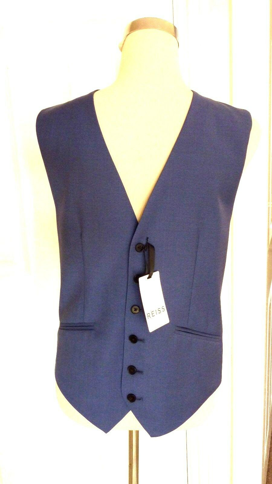 BNWT REISS Men's bluee Garth Tailored Classic Waistcoat. Size 36  rrp