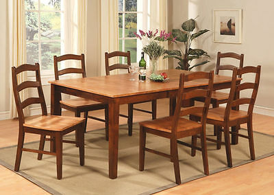 7pc Henley Dining Room Set Rectangular Table 6 Chairs Padded Or Non Padded New Ebay