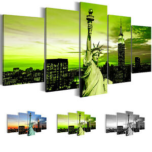 leinwand bilder bild kunstdruck new york gr n schwarz wei. Black Bedroom Furniture Sets. Home Design Ideas