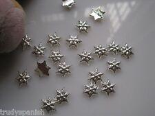 10 PIECES Christmas Metal Silver Snowflakes 3D Nail Art Decoration
