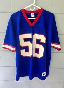 finest selection 64626 abf7a Details about Vintage Logo 7 New York Giants Lawrence Taylor Jersey Sz L  blue red white 56
