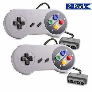 Original-Remote-Controller-Video-Game-Pad-For-Super-Nintendo-SNES-System-x2-Pack
