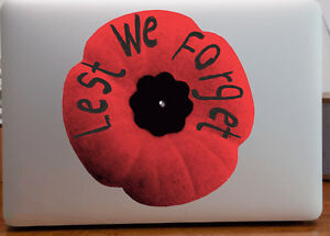 Poppy Flower Remembrance Day Decals Stickers Back Of Phone Or