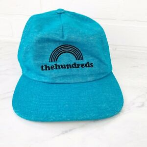 NWT-The-Hundreds-Rainbow-Logo-Smith-Snapback-Teal-Blue-Adjustable-Cap-Hat