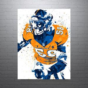 Von Miller Denver Broncos Poster FREE US SHIPPING