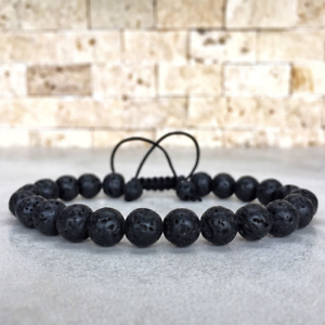 Man/'s Lava Rock Perles Yoga Gemstone Bracelets mala énergie bracelet réglable