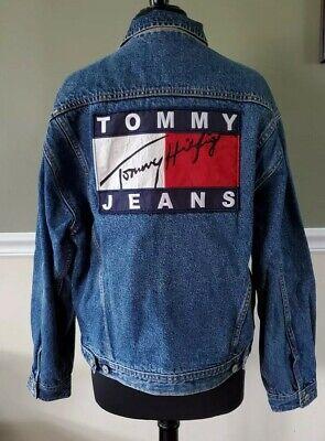 VINTAGE Tommy Hilfiger Vest Adult Small Blue Brown Reversible Puffer Mens 90s