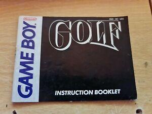 Golf Folleto De Instrucciones Manual Solamente Original Nintendo Gameboy ukv
