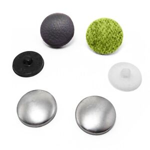 Domed Button blanks for cover buttons in various size/'s with plastic backs