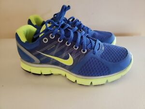 the latest 6fcca f942b Details about Nike Lunarglide 2 Running Shoes #407647-431 Royal Blue/Lime,  Women's US 8M GUC*