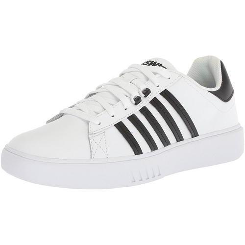K-Swiss Pershing Court CMF  Uomo Weiß Leder Größe Lace Up Trainers Schuhes Größe Leder UK 7-1 cb128a