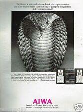 Publicité advertising 1986 La Chaine Hi-Fi Aiwa