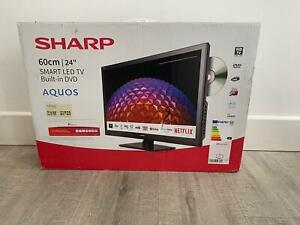 """Sharp 24"""" HD Ready Smart LED TV with Built-in DVD Player"""