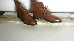 Crockett-amp-Jones-Coniston-Brown-Leather-Men-039-s-Ankle-Boots-Sz-10-E-410