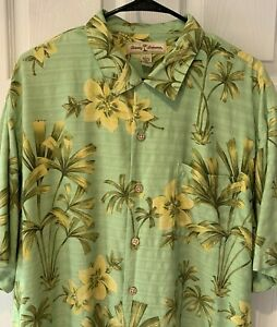 Tommy-Bahama-Mens-Shirt-Large-Silk-Tropical-Print