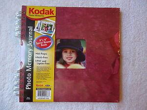 Kodak-Photo-Memory-Journal-034-8-X-8-034-Book-034-NIP-034-GREAT-FOR-SCRAPBOOKING-034-RED-034