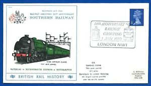 Railway-Postal-Cover-50th-Anniversary-Grouping-1-Jan-1973-Carried-Cover-SOUTHERN