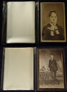 100-CDV-100-CABINET-CARD-Photo-SLEEVE-Pack-Lot-ARCHIVAL-SAFE-Quality-1-5mil-Poly
