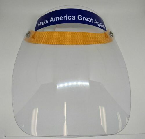 """Fit All Safety Full Face Shield Medical with logo /""""Make America Great Again/"""""""