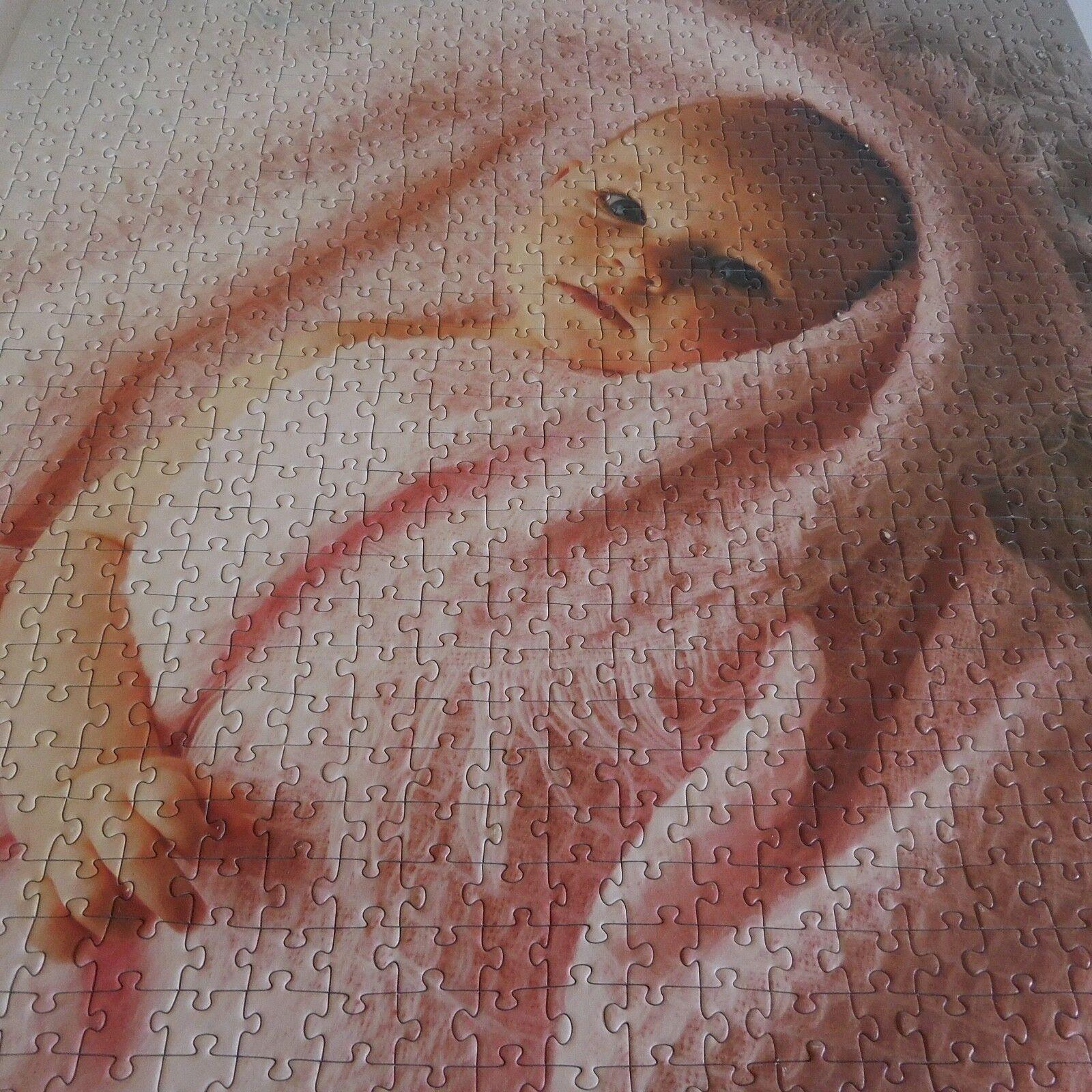 Puzzle Bebé Mano IN Barbilla 1990 Vintage Art Decoración Pn Francia N2304