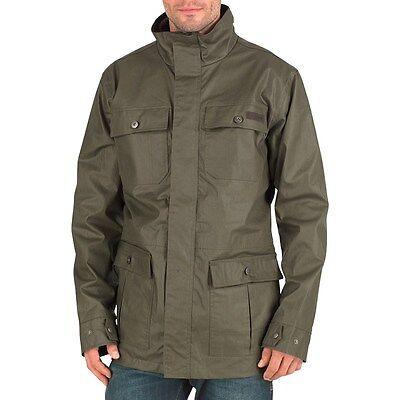 Regatta Hoxton Mens Wax Effect Jacket In Olive Night Green (RMN021)