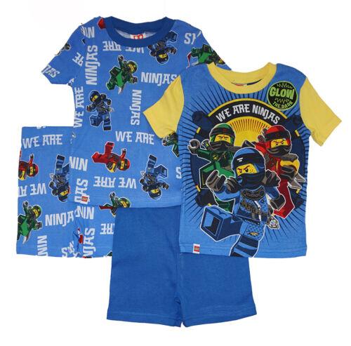Lego Ninjago Boys 4pc Snug Fit Pajama Short Set Size 4 6 8 10