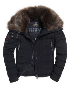 Coat Superdry Down Premium Parka Slick Jacket Rrp Womens £180 Black npTYqwUU
