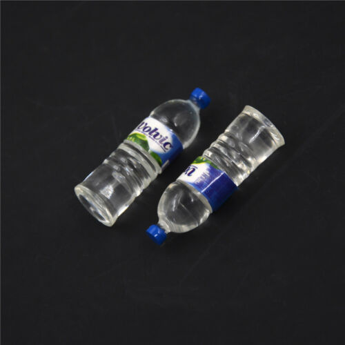 2pcs Bottle Water Drinking Miniature DollHouse 1:12 Toys Accessory Collection TO