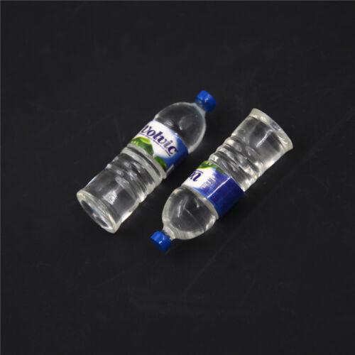 2x bouteille d/'eau potable miniature DollHouse 1:12jouet accessoire collectionIU