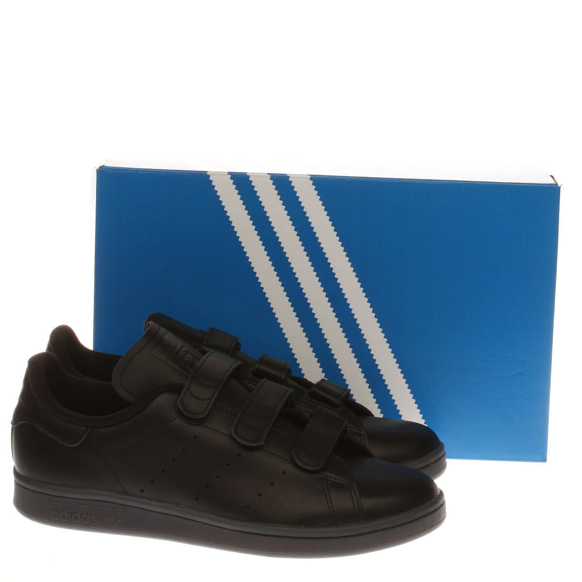 ADIDAS STAN SMITH Negro LEATHER 10 TRAINERS Talla 10 LEATHER 6b3a23