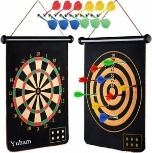 Yuham Magnetic Dart Board Indoor Outdoor Games for Kids and Adults, Toys Gifts f