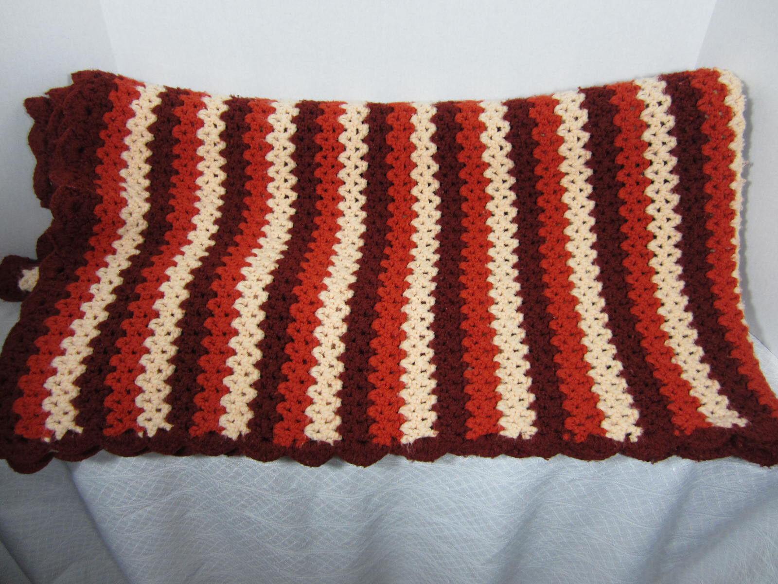 Handmade Crocheted Afghan Sofa Size 76 in X 63.5 in 193 cm 158cm Acrylic EPOC