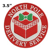 Christmas North Pole Delivery Service Embroidered Patch Iron-On or Sew-On