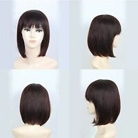 Straight Women Hairpiece 100% Human Hair Topper Hairpiece Flat Bang Us Shipping
