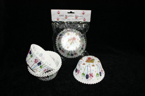 PARTY HATS 100 Large Muffin BUY 1 GET 1 FREE Extra Large Cupcake Cases