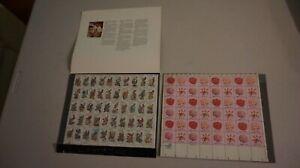 LOT-2-US-Scott-2002b-MNH-Sheet-of-50-State-Birds-amp-Flowers-Issue-SHEET-OF-48