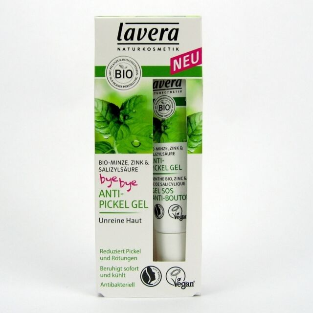 (33,27/100ml) Lavera Anti Pickel Gel Minze vegan 15 ml
