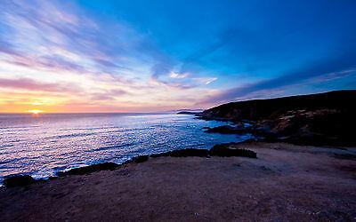 Framed Print - Deep Blue Ocean Sky (Picture Poster Art Sea Beach Sands Waves)