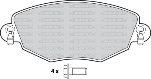 OEM SPEC FRONT AND REAR PADS FOR JAGUAR X TYPE 2.5 2001-04