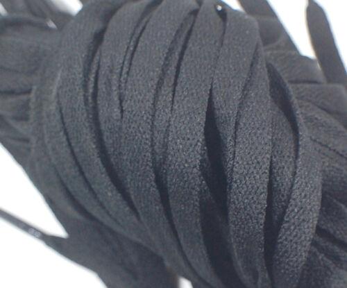 "1 Pair Set Black Shoelaces Shoe Strings Lace Sneakers Flat 47/"" Long New"