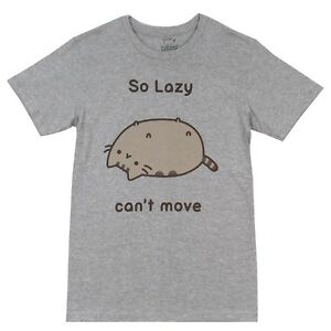 Pusheen-The-Cat-So-Lazy-Can-039-t-Move-Cute-Licensed-Adult-T-Shirt