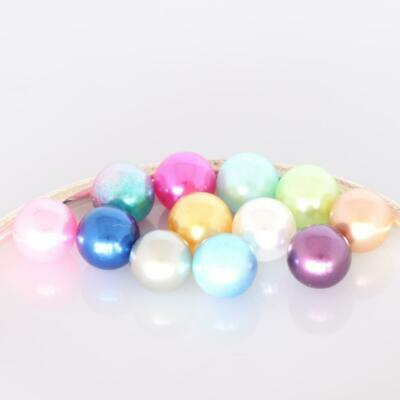 Set of 12 Pearls 8mm Pink Rainbow Purple Gold Silver White Aqua Lime Navy