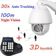 Auto Tracking 30x Zoom 1200TVL PTZ High Speed CCTV Security Camera+ 3D Joystick
