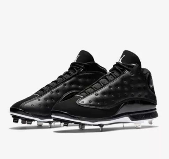 Nike Air Jordan Retro XIII 13 Metal Cleats Baseball Black Cat Baseball Cleats High Men's sizes 6a9a2a