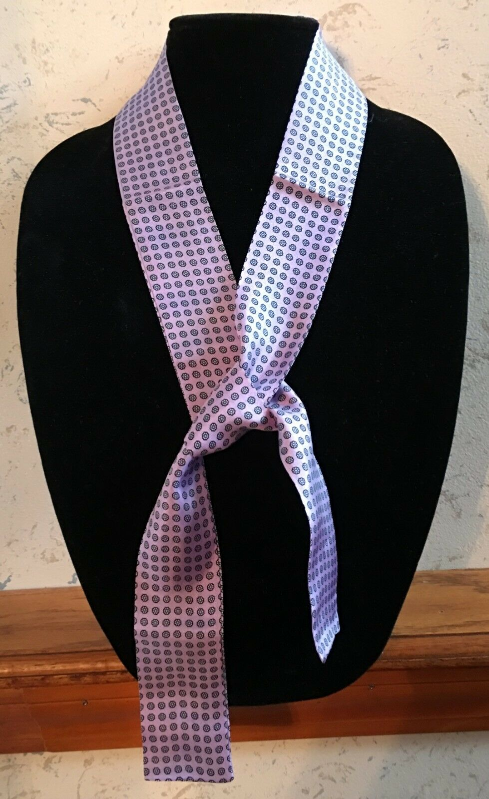 Women's 100% Silk Tie Accessory Package Of 12 Ties In 6 Colors New Old Stock